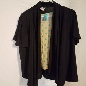 H.I.P. size large top and black cardigan